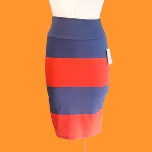LulaRoe striped Cassie skirt stretchy XS Gators